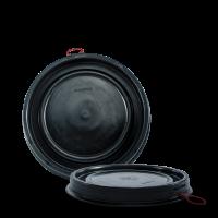 Deckel schwarz - HDPE -  für 60 Liter Deckelfass