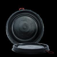 Deckel schwarz - HDPE - für 120 Liter Deckelfass