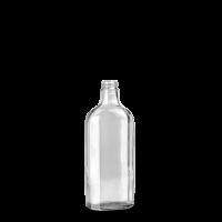 250 ml Meplatflasche - Klarglas - GL 22 Gewinde