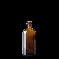 250 ml Meplatflasche - Braunglas - GL 22 Gewinde