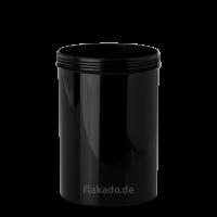1000 ml Dose - rund - schwarz - Gewinde 100 mm